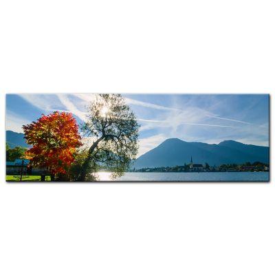 Leinwandbild - Schöner Morgen am See – Bild 5