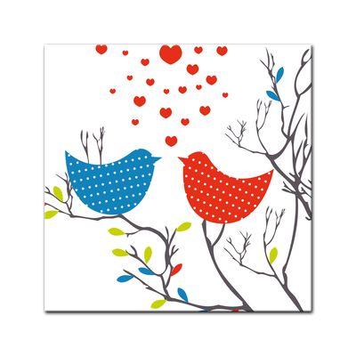 Leinwandbild - Verliebte Vögel – Bild 2