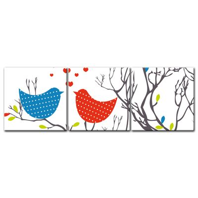 Leinwandbild - Kinderbild - Verliebte Vögel – Bild 7