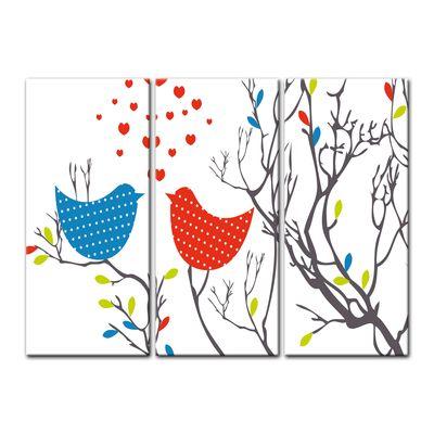 Leinwandbild - Kinderbild - Verliebte Vögel – Bild 8