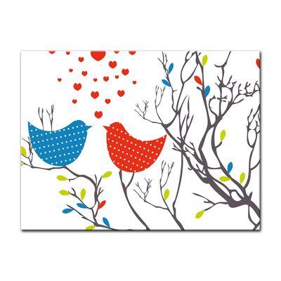 Leinwandbild - Verliebte Vögel – Bild 3