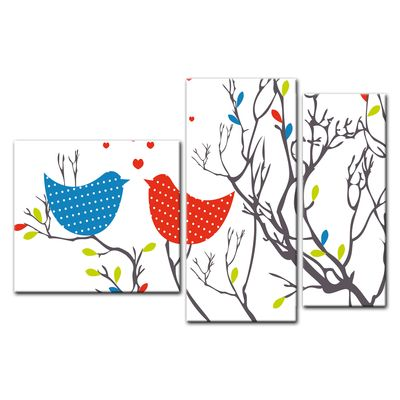 Leinwandbild - Verliebte Vögel – Bild 12