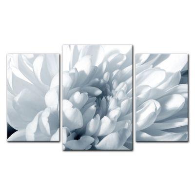 Leinwandbild - Weisse Chrysanteme – Bild 4