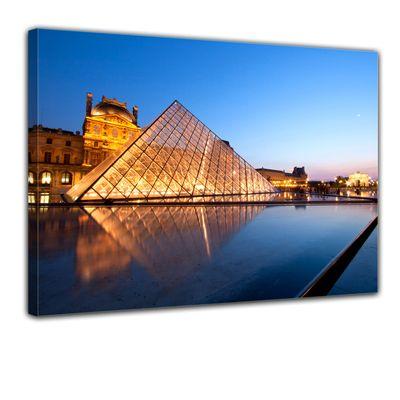 Leinwandbild - Louvre Museum in Paris - Frankreich