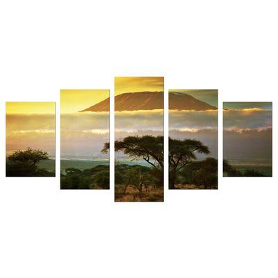 Leinwandbild - Kilimandscharo mit Savanne in Kenya - Afrika – Bild 6