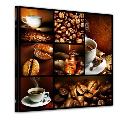 Leinwandbild - Kaffee Collage II