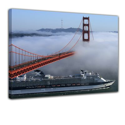 Leinwandbild - Golden Gate Bridge in San Francisco, Kalifornien - USA