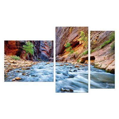 Leinwandbild - Blick auf den Virgin River im Zion National Park - Utah USA – Bild 9
