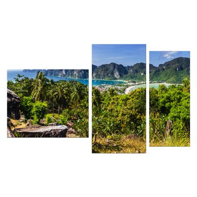 Leinwandbild - Blick auf Phi Phi Island - Thailand – Bild 9