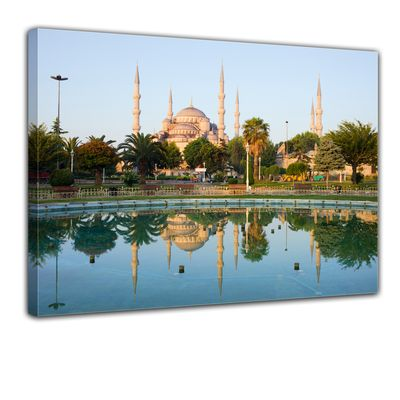 Leinwandbild - Sultan-Ahmet-Moschee in Istanbul - Türkei