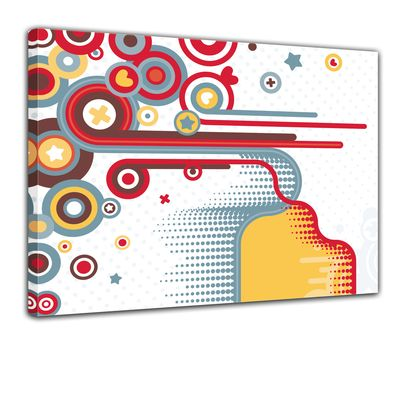 Leinwandbild - Abstrakt Retro Background II  – Bild 1