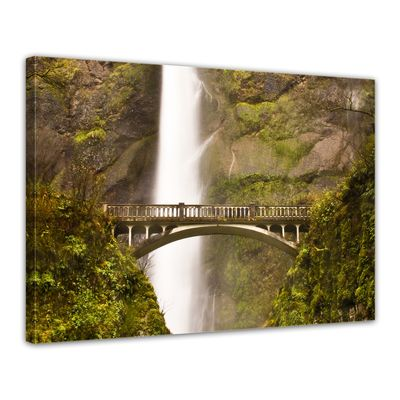 Leinwandbild - Multnomah Falls in Oregon - USA – Bild 1