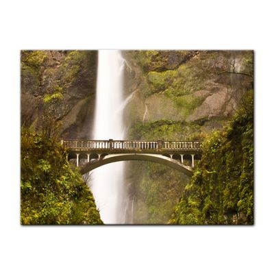 Leinwandbild - Multnomah Falls in Oregon - USA – Bild 2