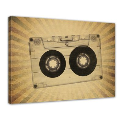 Leinwandbild - Music Old Paper Grunge Vintage II  – Bild 1