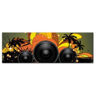 Leinwandbild - Musical Grunge Background II  – Bild 4
