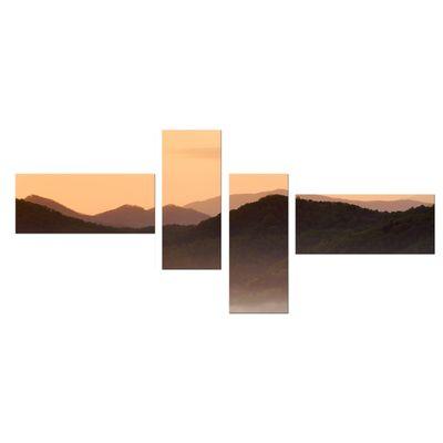 Leinwandbild - Nebeliges Tal und Berge im Sonnenuntergang, USA – Bild 11