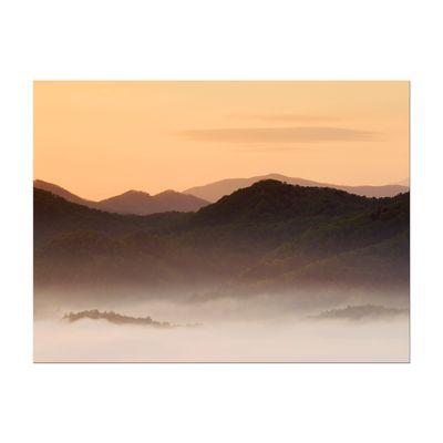 Leinwandbild - Nebeliges Tal und Berge im Sonnenuntergang, USA – Bild 3