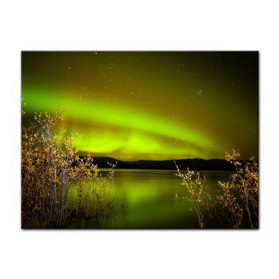 Leinwandbild - Nordlichter II in Yukon - Kanada – Bild 3