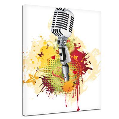 Leinwandbild - Old Microphone - Altes Mikrofon