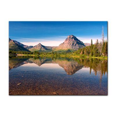 Leinwandbild - Reflektion am See – Bild 2