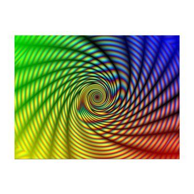 Leinwandbild - Regenbogenspirale abstrakt  – Bild 2
