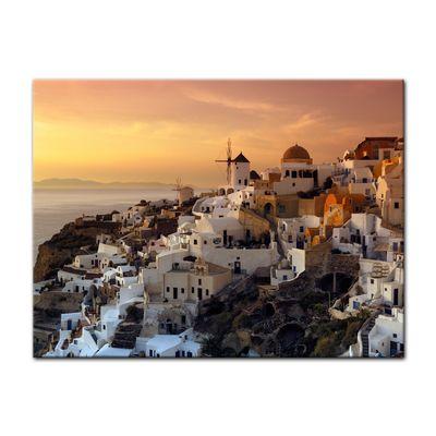 Leinwandbild - Santorini im Abendrot – Bild 2