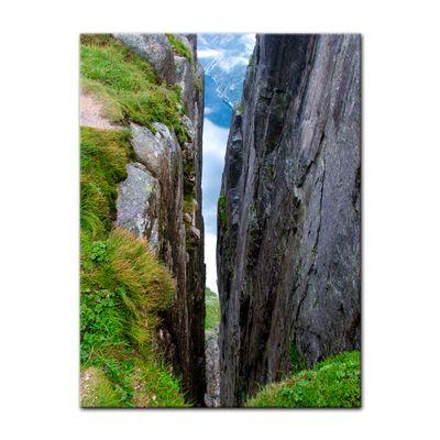 Leinwandbild - Sicht auf Lysefjord-Kjerag - Norwegen – Bild 2