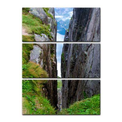Leinwandbild - Sicht auf Lysefjord-Kjerag - Norwegen – Bild 5