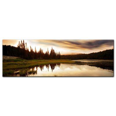 Leinwandbild - Sonnenuntergang am See – Bild 3