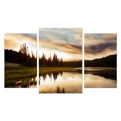 Leinwandbild - Sonnenuntergang am See – Bild 7