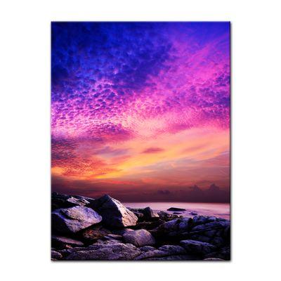 Leinwandbild - Sonnenuntergang über Felsenküste – Bild 2