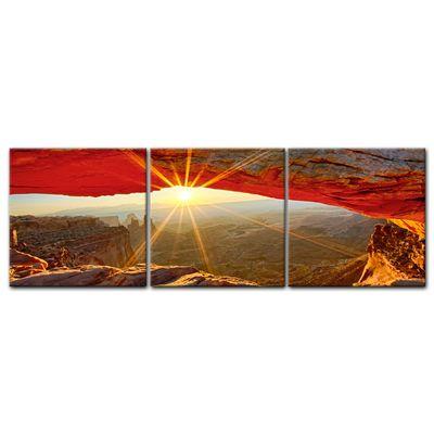 Leinwandbild - Sonnenaufgang im Arches-Nationalpark - Utah – Bild 4