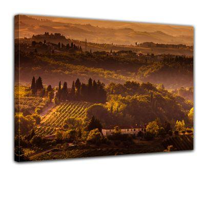 Leinwandbild - Toskana im Sonnenuntergang II