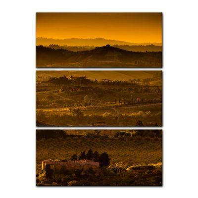 Leinwandbild - Toskana im Sonnenuntergang  – Bild 4