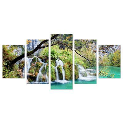 Leinwandbild - Wasserfall im Herbst – Bild 6