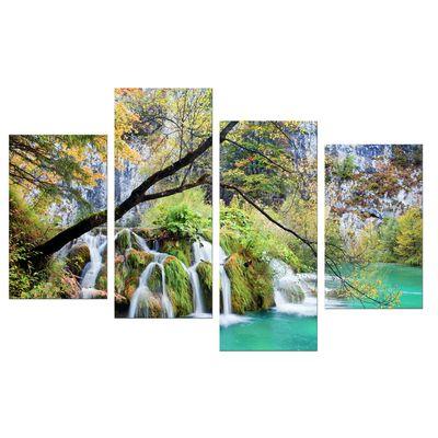 Leinwandbild - Wasserfall im Herbst – Bild 8