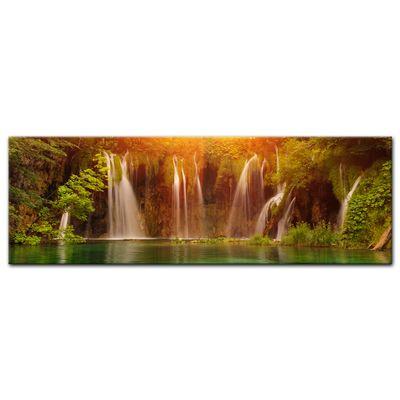 Leinwandbild - Wasserfall, Plitvice Kroatien – Bild 3