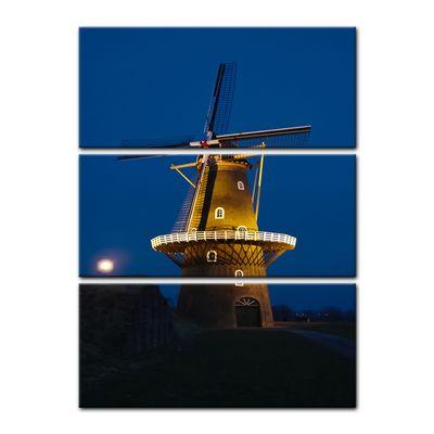 Leinwandbild - Windmühle am Abend – Bild 5