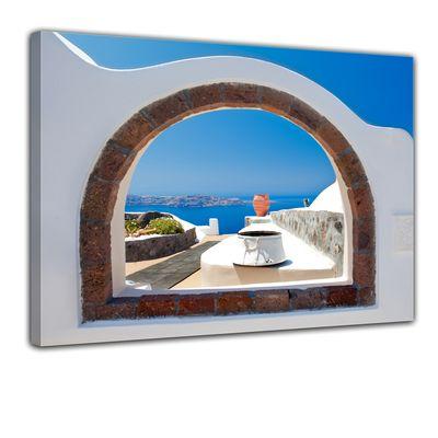 Leinwandbild - Window to Paradise - Fenster zum Paradies