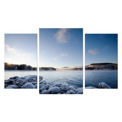 Leinwandbild - Winter Fjord – Bild 7