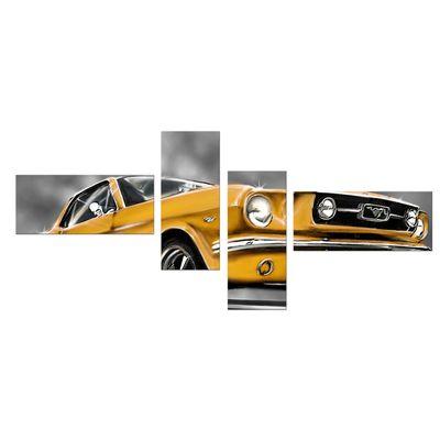 Leinwandbild - Mustang Graphic - gelb – Bild 9