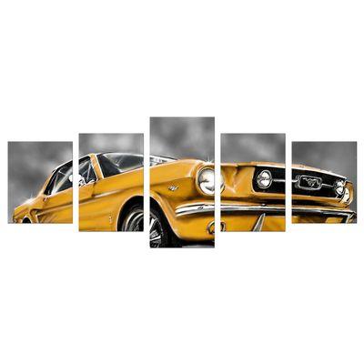 Leinwandbild - Mustang Graphic - gelb – Bild 8