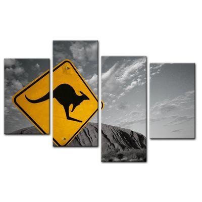 Leinwandbild - Ayers Rock - Australien sw – Bild 9