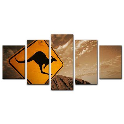 Leinwandbild - Ayers Rock - Australien - sephia – Bild 8
