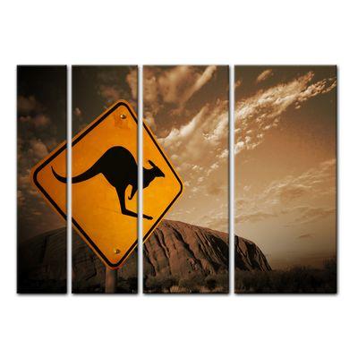 Leinwandbild - Ayers Rock - Australien - sephia – Bild 7