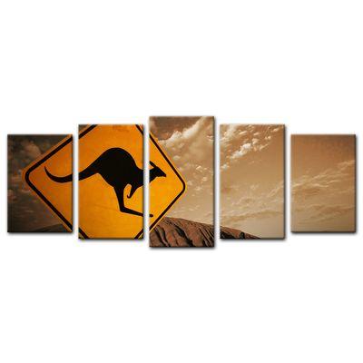 Leinwandbild - Ayers Rock - Australien - sephia – Bild 13