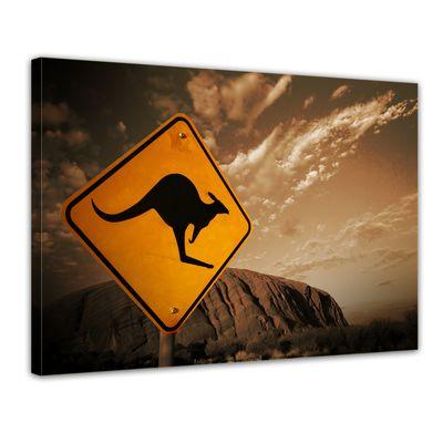 Leinwandbild - Ayers Rock - Australien - sephia – Bild 1