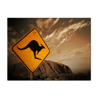 Leinwandbild - Ayers Rock - Australien - sephia – Bild 2