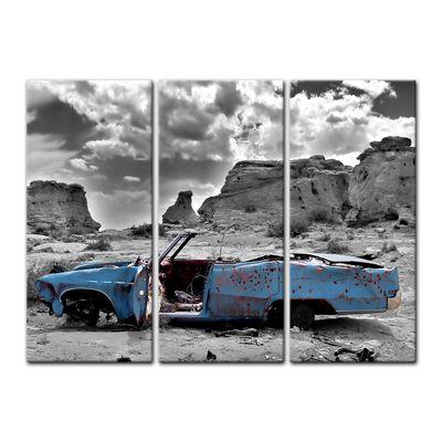 Leinwandbild - Cadillac - blau – Bild 5
