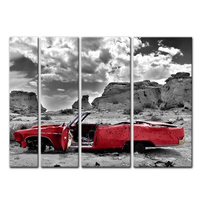 Leinwandbild - Cadillac - rot – Bild 6